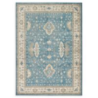 Unique Loom Itzling Salzburg 7' X 10' Powerloomed Area Rug in Light Blue