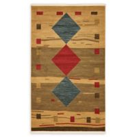 Unique Loom Kingston Nomad 5' X 8' Powerloomed Area Rug in Tan