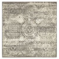 Unique Loom Kiawah Cambridge 6' X 6' Powerloomed Area Rug in Dark Gray