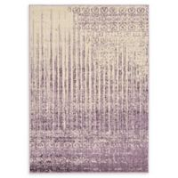 Unique Loom Jennifer Del Mar 4' X 6' Powerloomed Area Rug in Purple