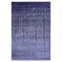 Unique Loom Jennifer Del Mar 4' X 6' Powerloomed Area Rug in Blue