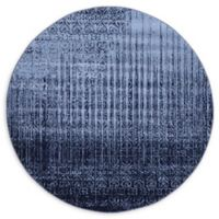 Unique Loom Jennifer Del Mar 6' Round Powerloomed Area Rug in Blue