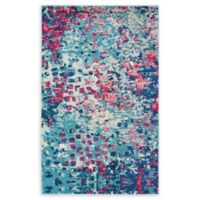 "Unique Loom Ivy Barcelona 3'3"" X 5' Powerloomed Area Rug in Blue"