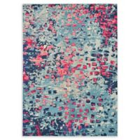 Unique Loom Ivy Barcelona 7' X 10' Powerloomed Area Rug in Blue