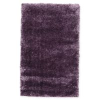 "Unique Loom Luxe Solo 3'3"" X 5'3"" Powerloomed Area Rug in Purple"