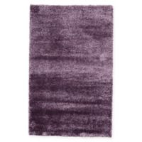 Unique Loom Luxe Solo 5' X 8' Powerloomed Area Rug in Purple