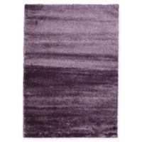 Unique Loom Luxe Solo 7' X 10' Powerloomed Area Rug in Purple
