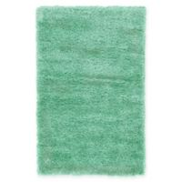 "Unique Loom Luxe Solo 3'3"" X 5'3"" Powerloomed Area Rug in Green"