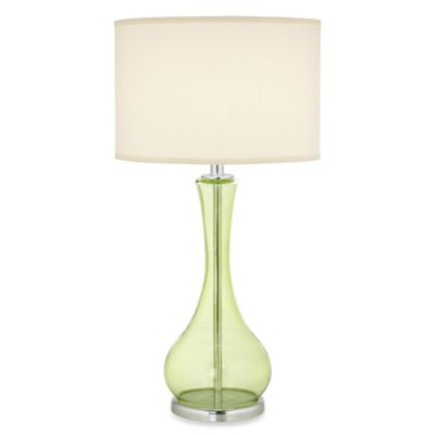 Buy green glass table lamp from bed bath beyond pacific coast lighting the appletini green glass table lamp aloadofball