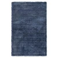 Unique Loom Luxe Solo 5' X 8' Powerloomed Area Rug in Navy