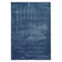 Unique Loom Luxe Solo 6' X 9' Powerloomed Area Rug in Navy