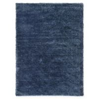 Unique Loom Luxe Solo 7' X 10' Powerloomed Area Rug in Navy