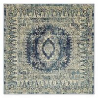 Unique Loom Lyngby Lake Copenhagen 6' Square Area Rug in Navy