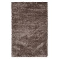 Unique Loom Luxe Solo 5' X 8' Powerloomed Area Rug in Brown