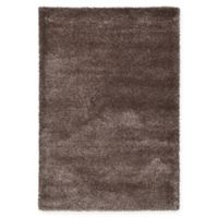 Unique Loom Luxe Solo 6' X 9' Powerloomed Area Rug in Brown