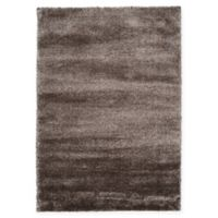 Unique Loom Luxe Solo 7' X 10' Powerloomed Area Rug in Brown
