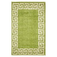 Unique Loom Modern Athens 2' X 3' Powerloomed Area Rug in Light Green