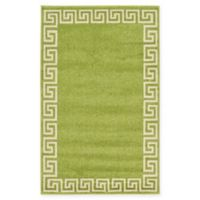 "Unique Loom Modern Athens 3'3"" X 5'3"" Powerloomed Area Rug in Light Green"