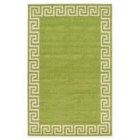 Unique Loom Modern Athens 5' X 8' Powerloomed Area Rug in Light Green