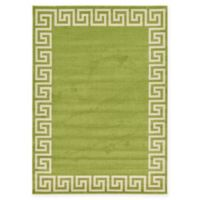 Unique Loom Modern Athens 7' X 10' Powerloomed Area Rug in Light Green