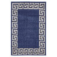 """Unique Loom Modern Athens 2'2"""" X 3' Powerloomed Area Rug in Navy"""