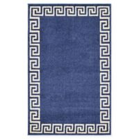 "Unique Loom Modern Athens 3'3"" X 5'3"" Powerloomed Area Rug in Navy"