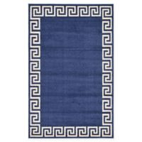Unique Loom Modern Athens 5' X 8' Powerloomed Area Rug in Navy