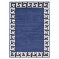 Unique Loom Modern Athens 7' X 10' Powerloomed Area Rug in Navy