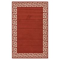 Unique Loom Modern Athens 5' X 8' Powerloomed Area Rug in Terracotta