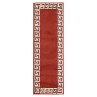 Unique Loom Modern Athens 6' Runner Powerloomed in Terracotta