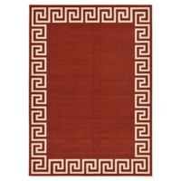 Unique Loom Modern Athens 7' X 10' Powerloomed Area Rug in Terracotta