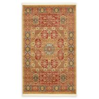 "Unique Loom Monroe Palace 3'3"" X 5'3"" Powerloomed Area Rug in Red"