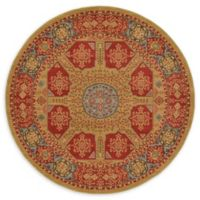 Unique Loom Monroe Palace 6' Round Powerloomed Area Rug in Red