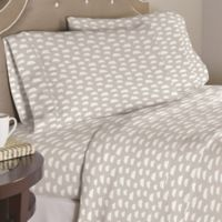 Pointehaven Clouds 200-Thread-Count Full Sheet Set in Grey/White