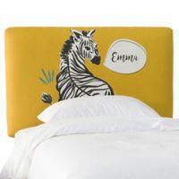 Skyline Furniture Scottsburg Zebra Full Upholstered Headboard in Yellow