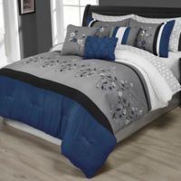 Tori 10-Piece Queen Comforter Set in Blue