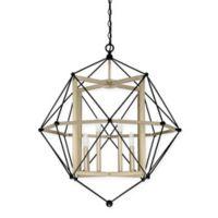 Quoizel® Division 8-Light Pendant in Earth Black/Gold