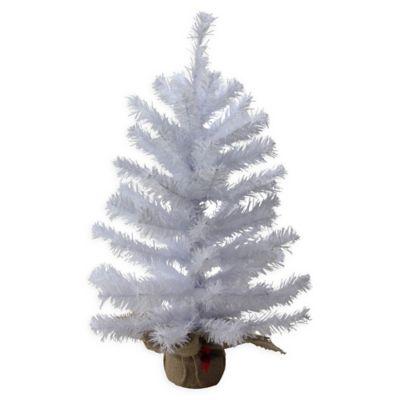 northlight 2 foot mini balsam pine christmas tree with burlap base in white - Mini White Christmas Tree