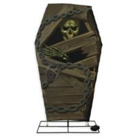 48-Inch Skeleton in Coffin Halloween Yard Decoration