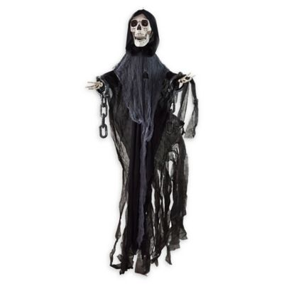 northlight chains animated reaper halloween decoration in grey