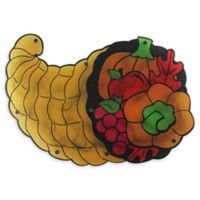 Northlight Lighted Cornucopia Thanksgiving Window Decoration