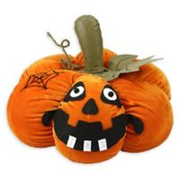 Northlight® Pre-Lit LED Plush Jack-o'-Lantern Halloween Decoration in Orange