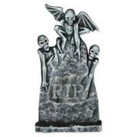 29.5-Inch Lighted Tombstone Halloween Decoration