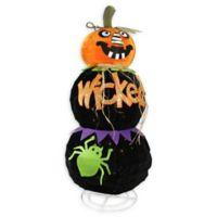 "Northlight® ""Wicked"" Jack-o-Lantern Halloween Decoration in Orange"