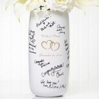 Joined Hearts Signature Ceramic Wedding Vase