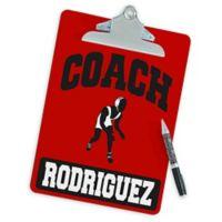 Wrestling Coach Clipboard