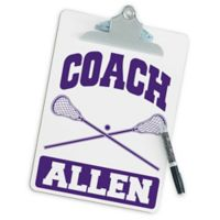 Lacrosse Coach Clipboard