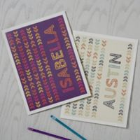 Stencil Name Folders (Set of 2)