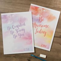 Watercolor Write Your Own Folders (Set of 2)