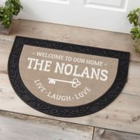 Key To Our Home Half Round Doormat